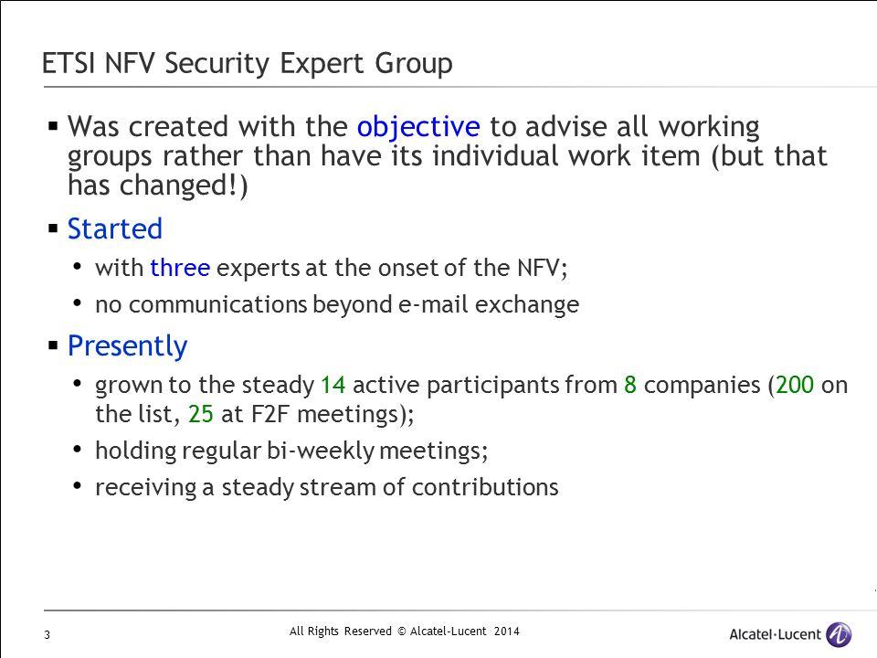 ETSI NFV Security Expert Group