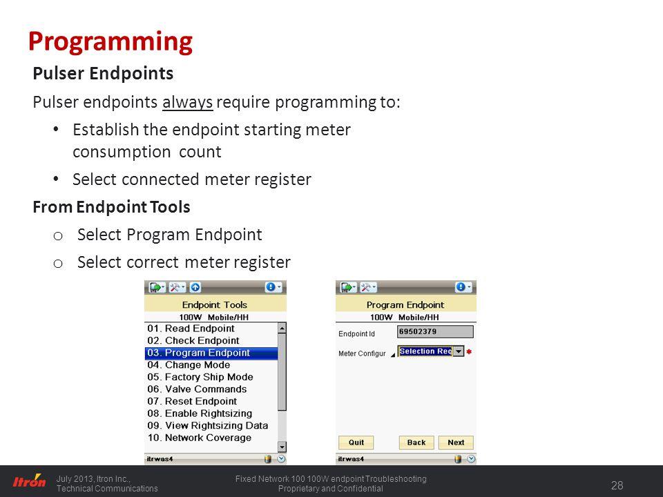 Programming Pulser Endpoints