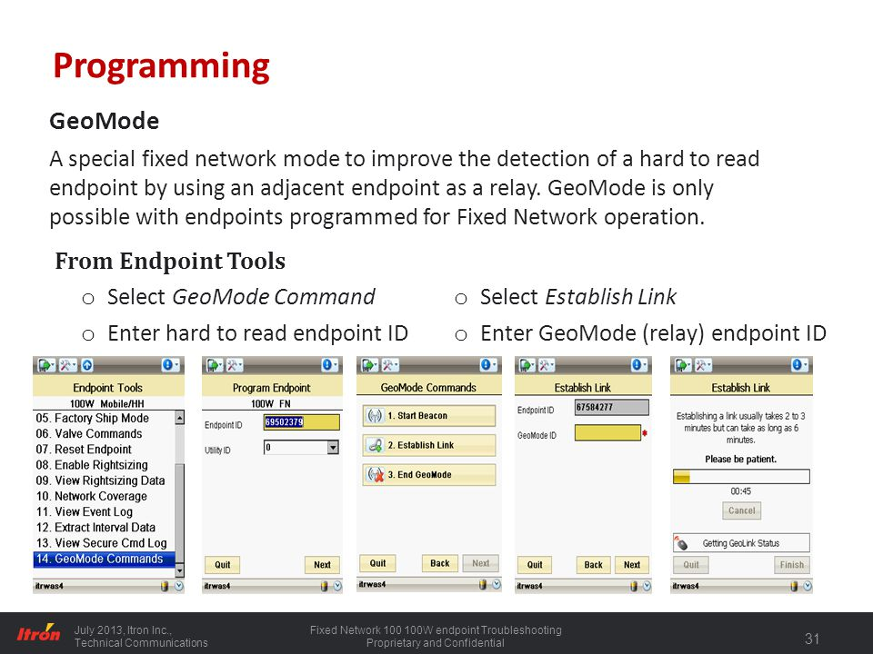 Programming GeoMode.