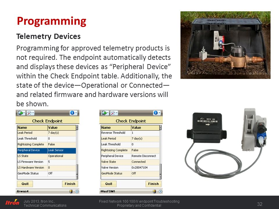 Programming Telemetry Devices