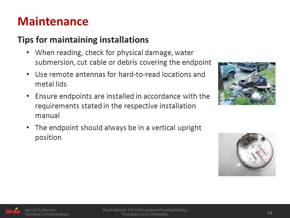 Maintenance Tips for maintaining installations