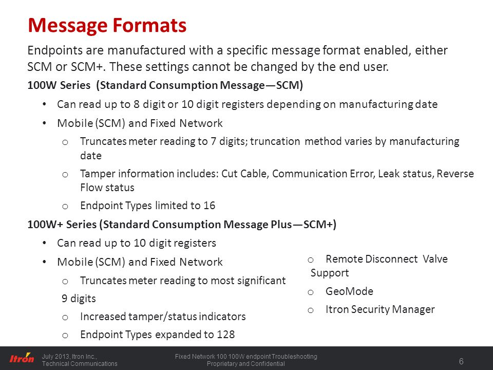 Message Formats