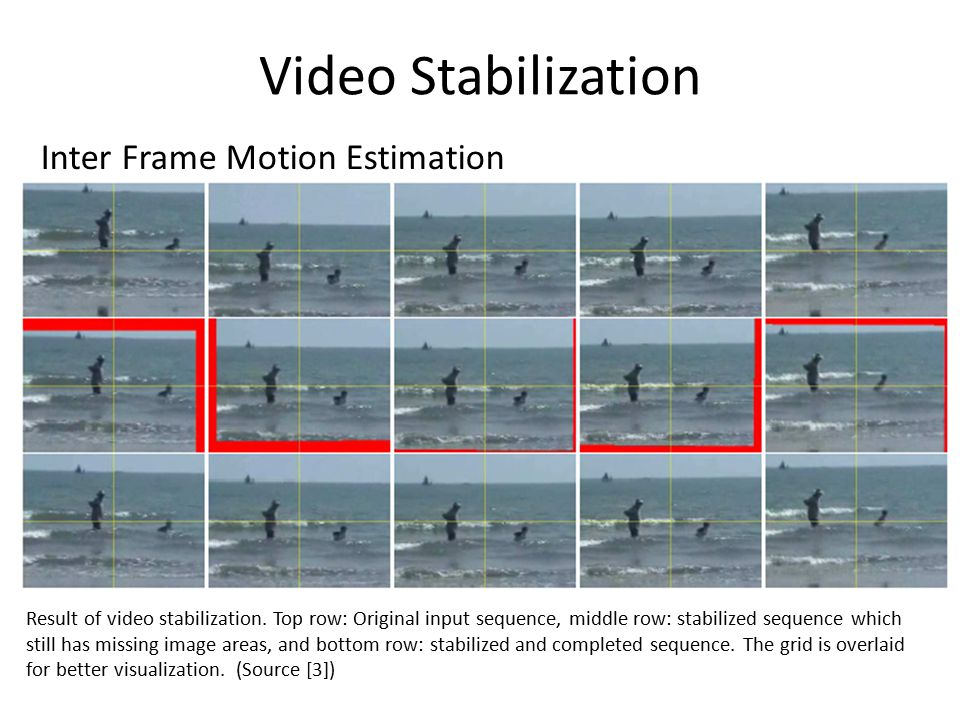 Video Stabilization Inter Frame Motion Estimation