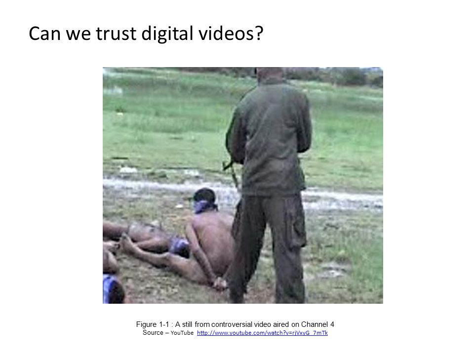 Can we trust digital videos