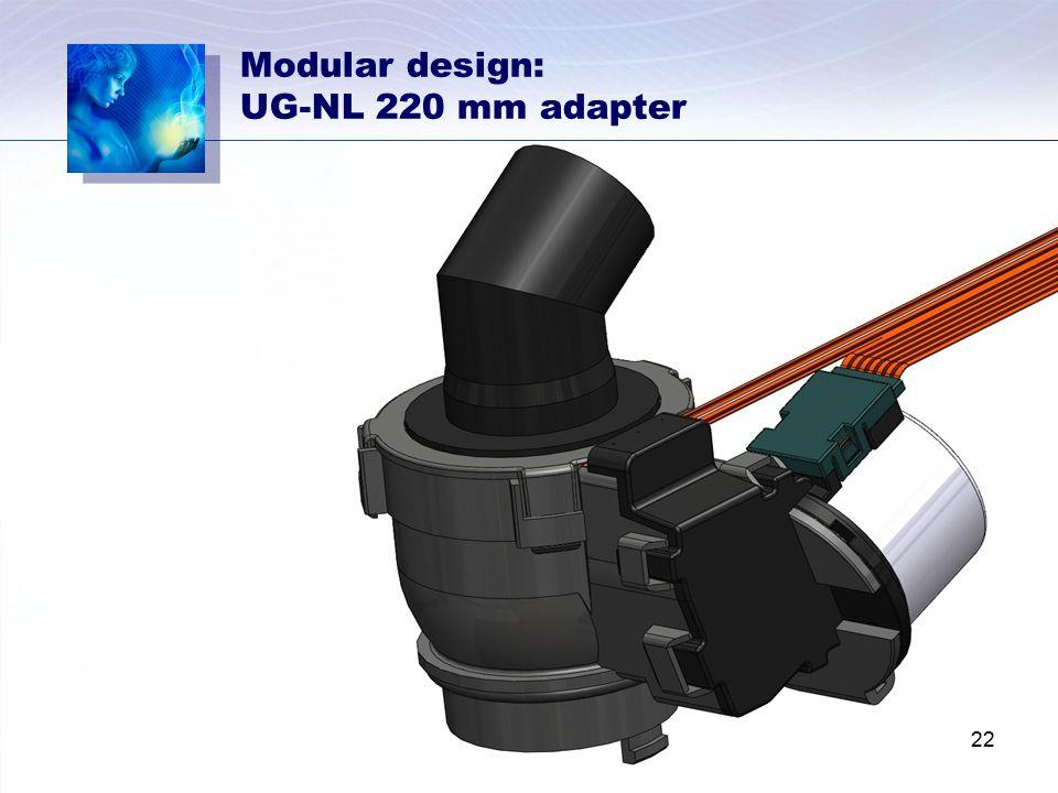 Modular design: UG-NL 220 mm adapter