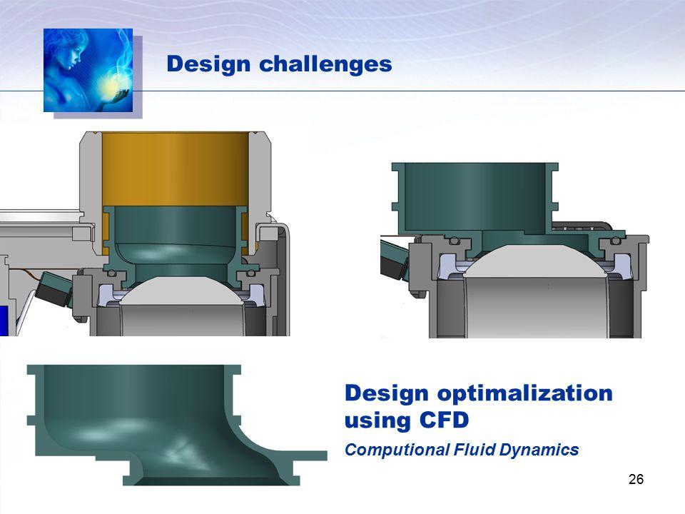 Design optimalization using CFD