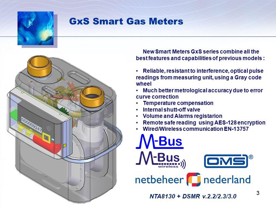 GxS Smart Gas Meters NTA8130 + DSMR v.2.2/2.3/3.0