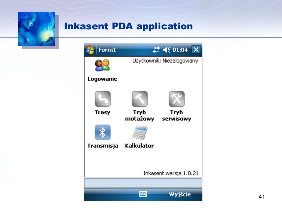Inkasent PDA application