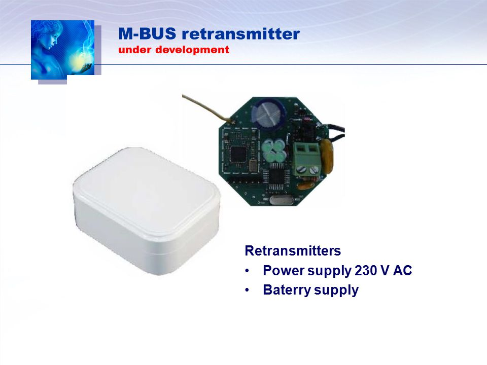 M-BUS retransmitter Retransmitters Power supply 230 V AC