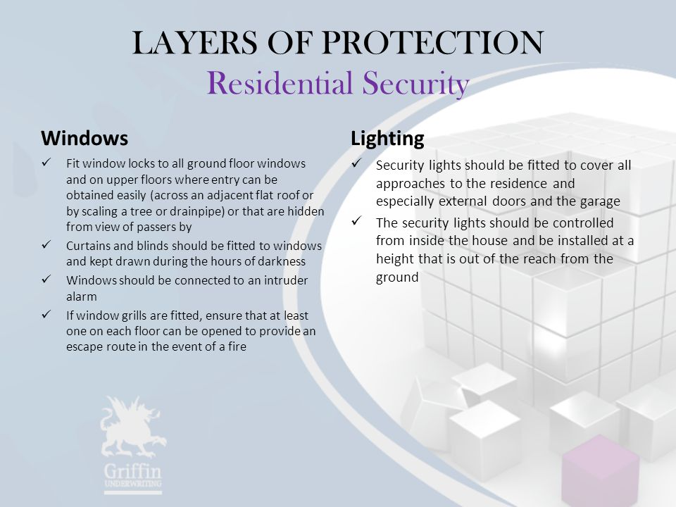 LAYERS OF PROTECTION Residential Security