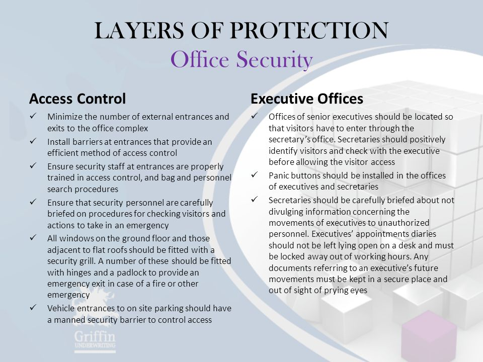 LAYERS OF PROTECTION Office Security