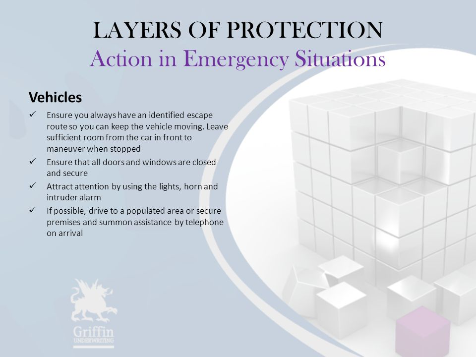 LAYERS OF PROTECTION Action in Emergency Situations