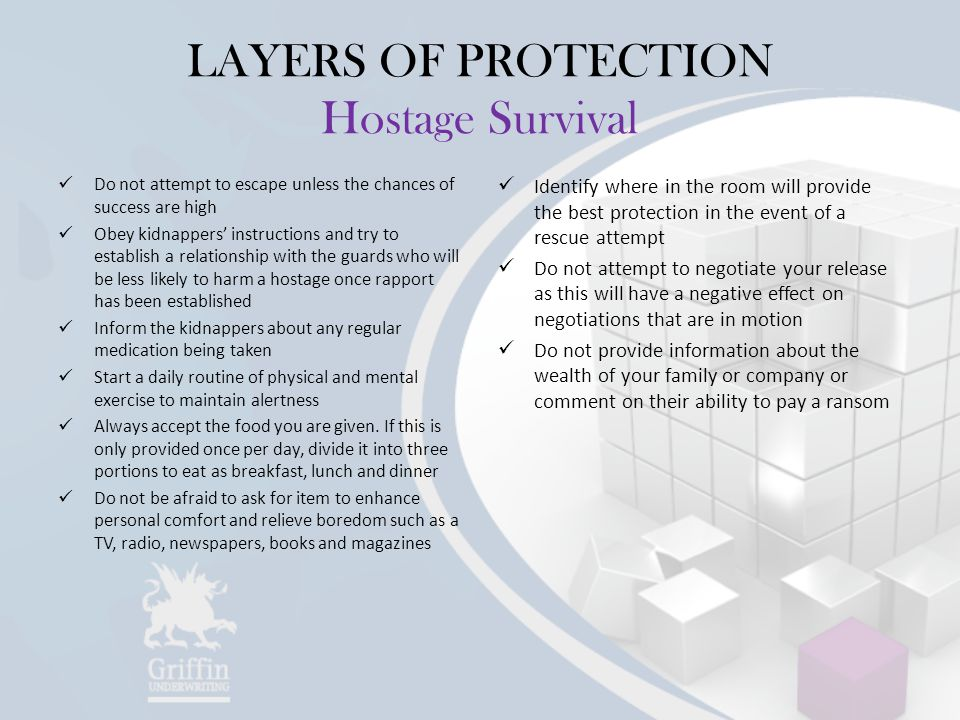 LAYERS OF PROTECTION Hostage Survival