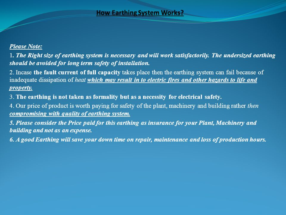 How Earthing System Works