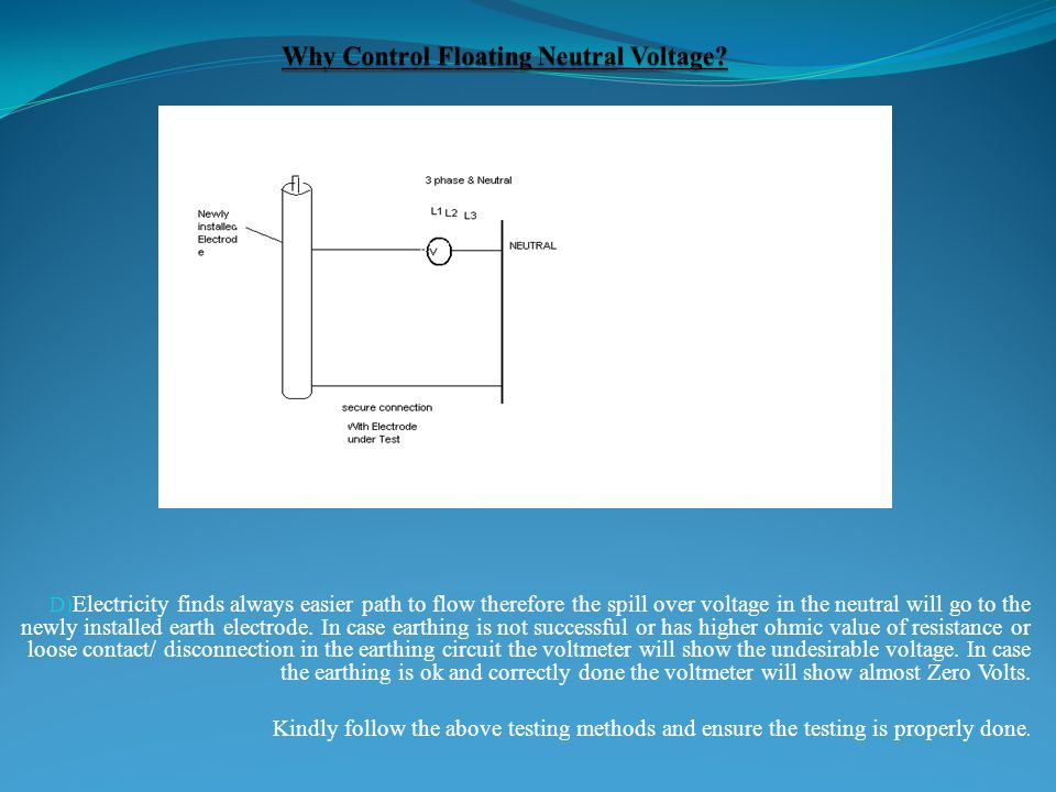 Why Control Floating Neutral Voltage