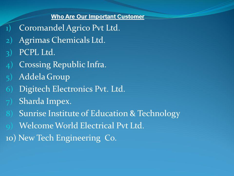 Coromandel Agrico Pvt Ltd. Agrimas Chemicals Ltd. PCPL Ltd.