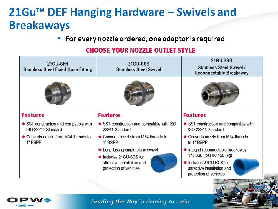 21Gu™ DEF Hanging Hardware - Hose