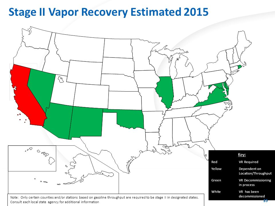 Stage II Vapor Recovery Estimated 2016+
