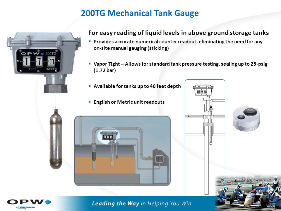 Mechanical Tank Gauge Comparison