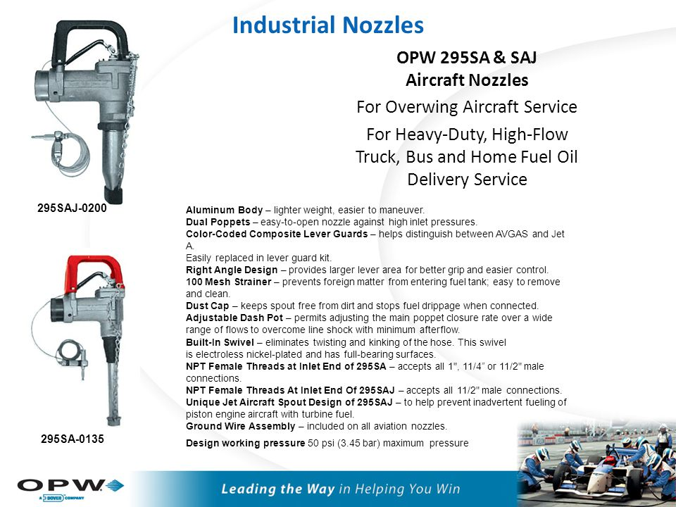 OPW 295AF Aircraft Nozzles