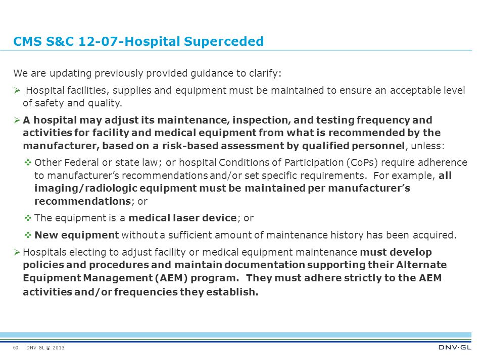 CMS S&C 12-07-Hospital Superceded