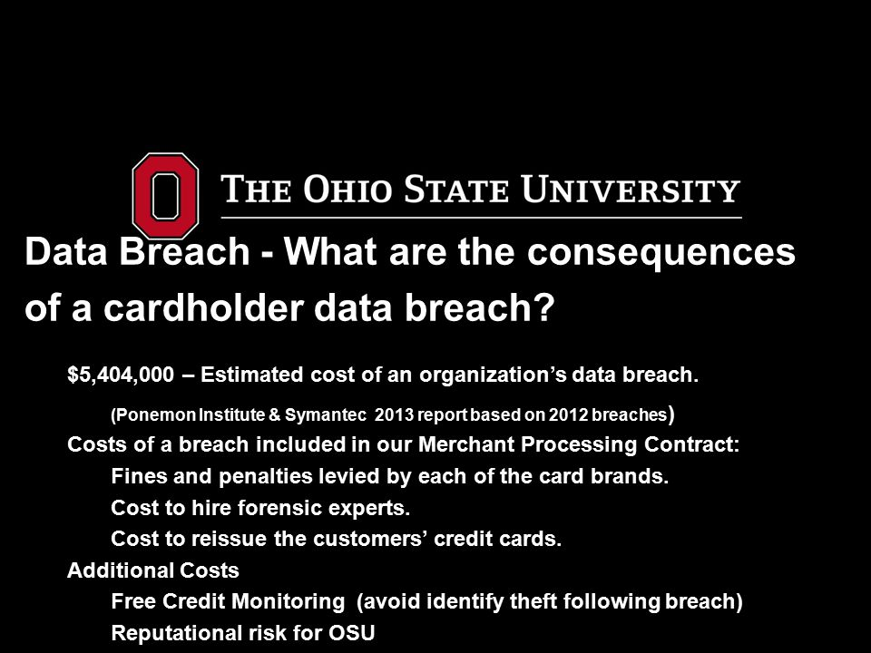 Data Breach - What are the consequences of a cardholder data breach