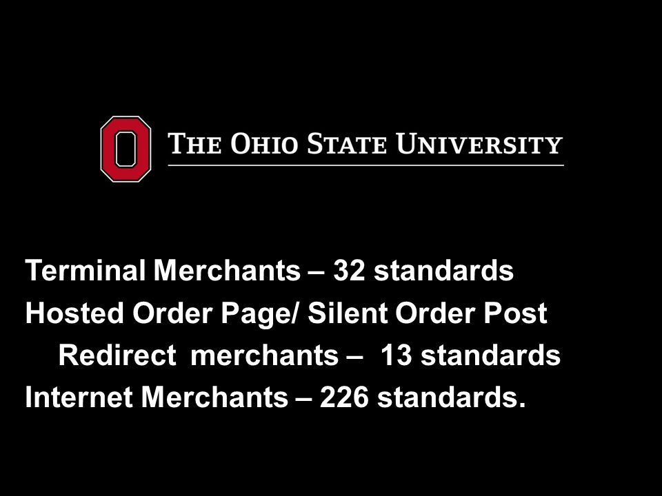 Terminal Merchants – 32 standards Hosted Order Page/ Silent Order Post