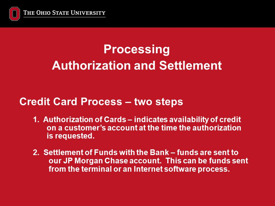 Authorization and Settlement