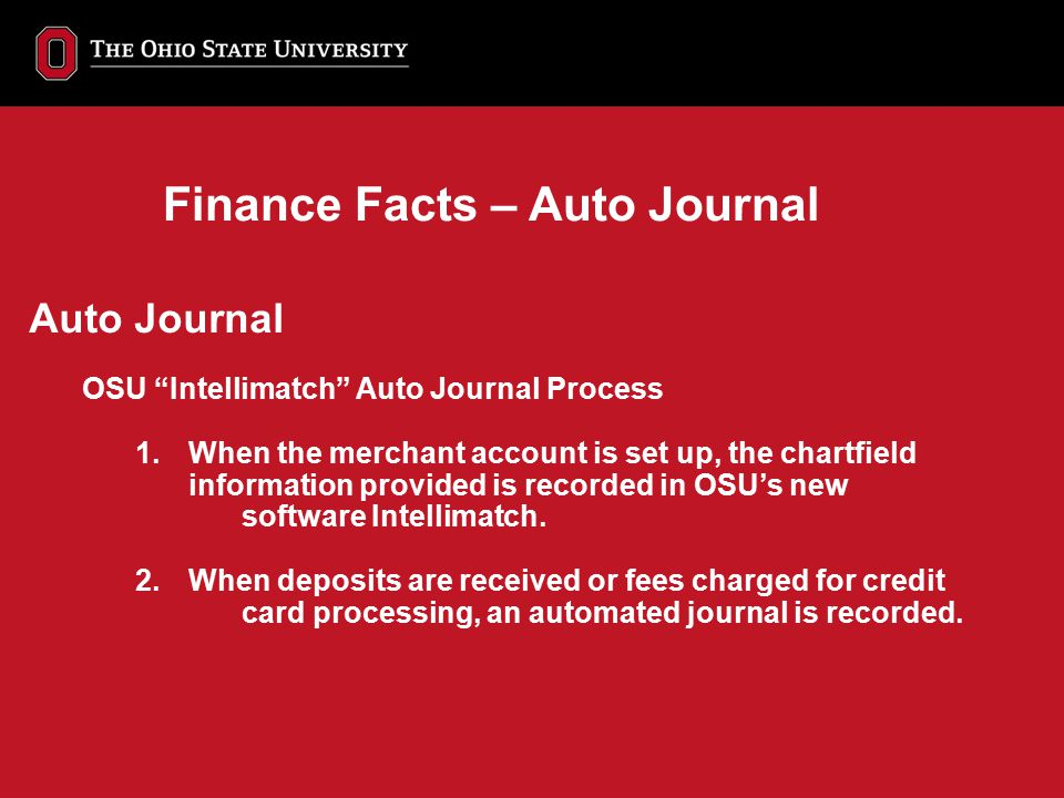 Finance Facts – Auto Journal