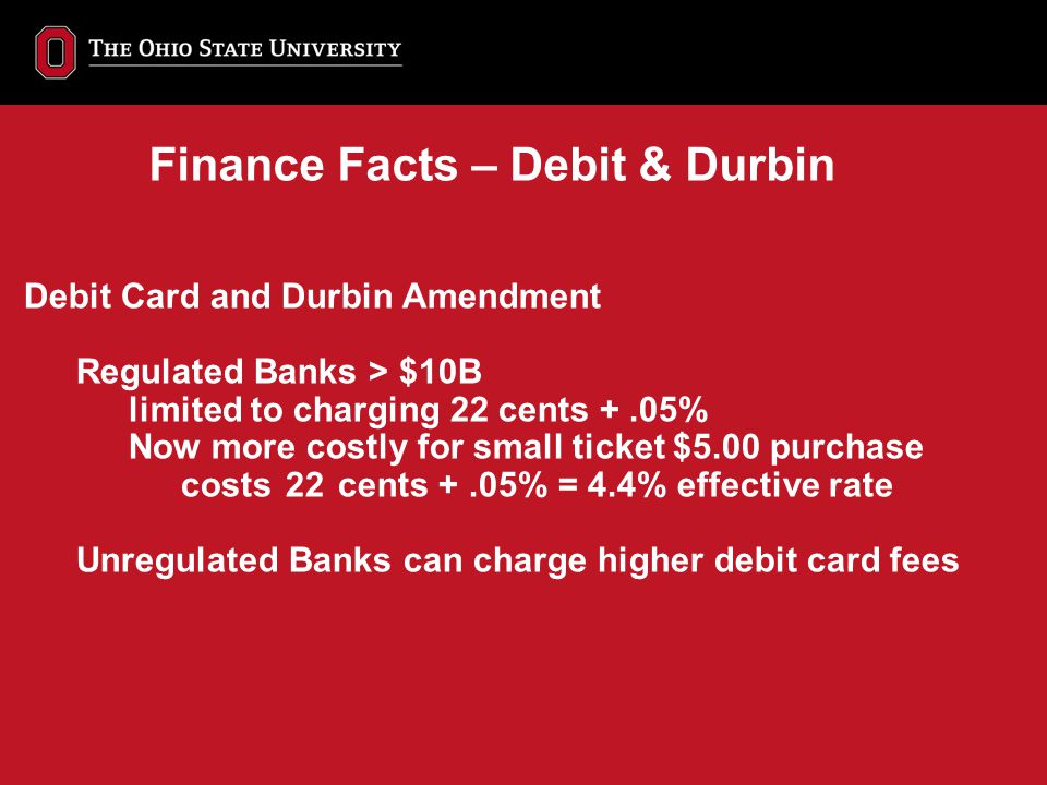 Finance Facts – Debit & Durbin