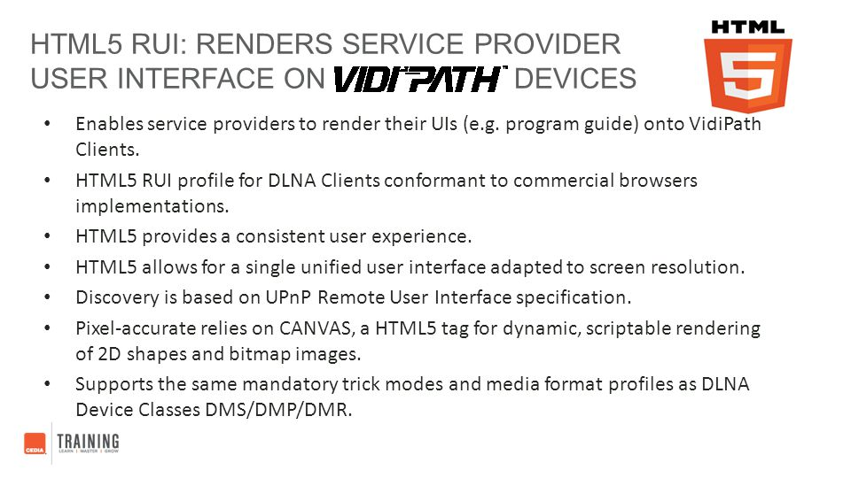 HTML5 RUI: Renders Service Provider User Interface on Devices