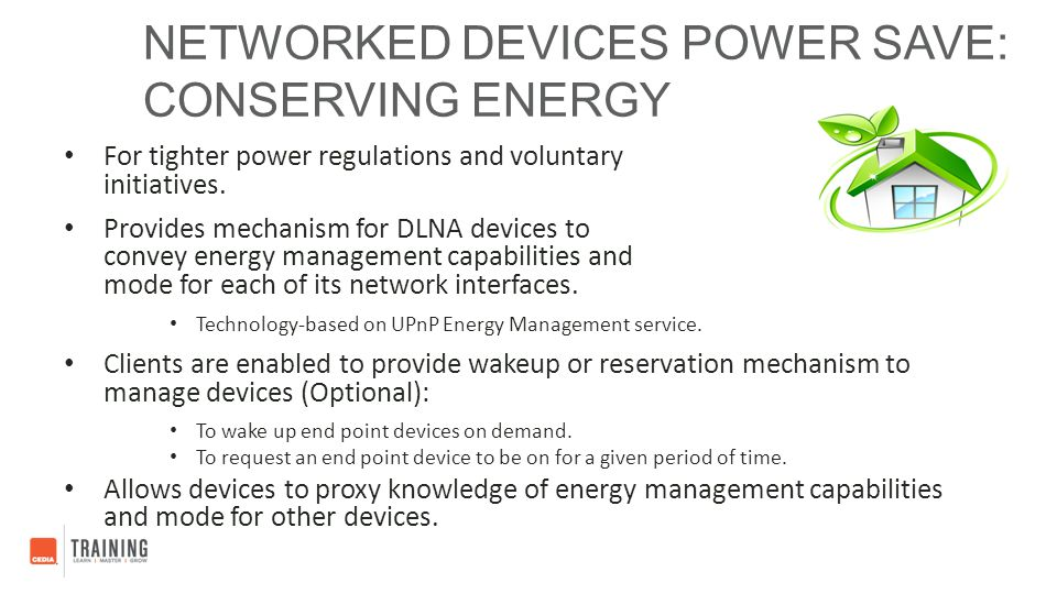Networked Devices Power Save: Conserving Energy