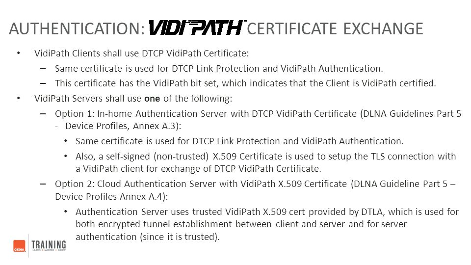 Authentication: Certificate Exchange