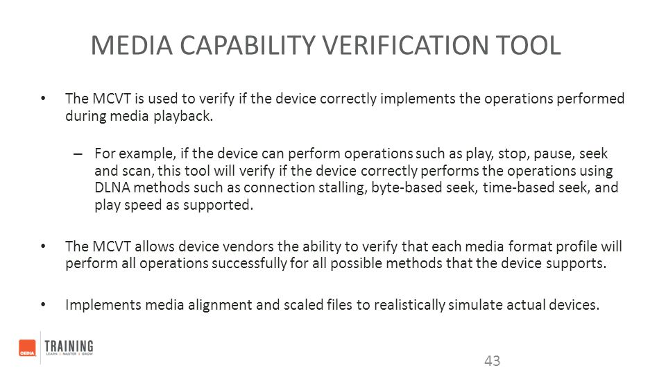 Media Capability Verification Tool