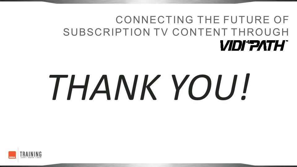 Connecting the future of Subscription TV content through