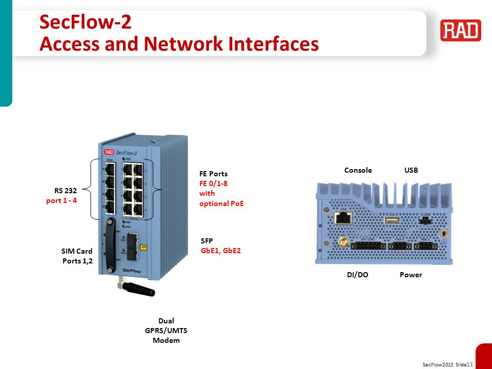 SecFlow-2 Access and Network Interfaces