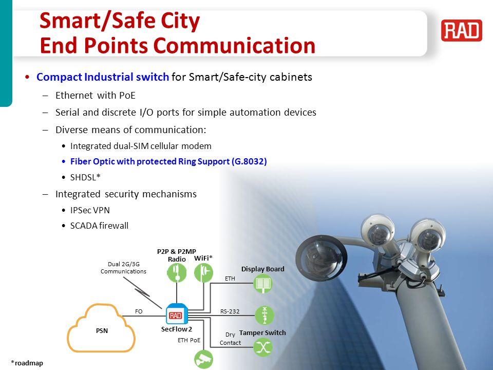 Smart/Safe City End Points Communication
