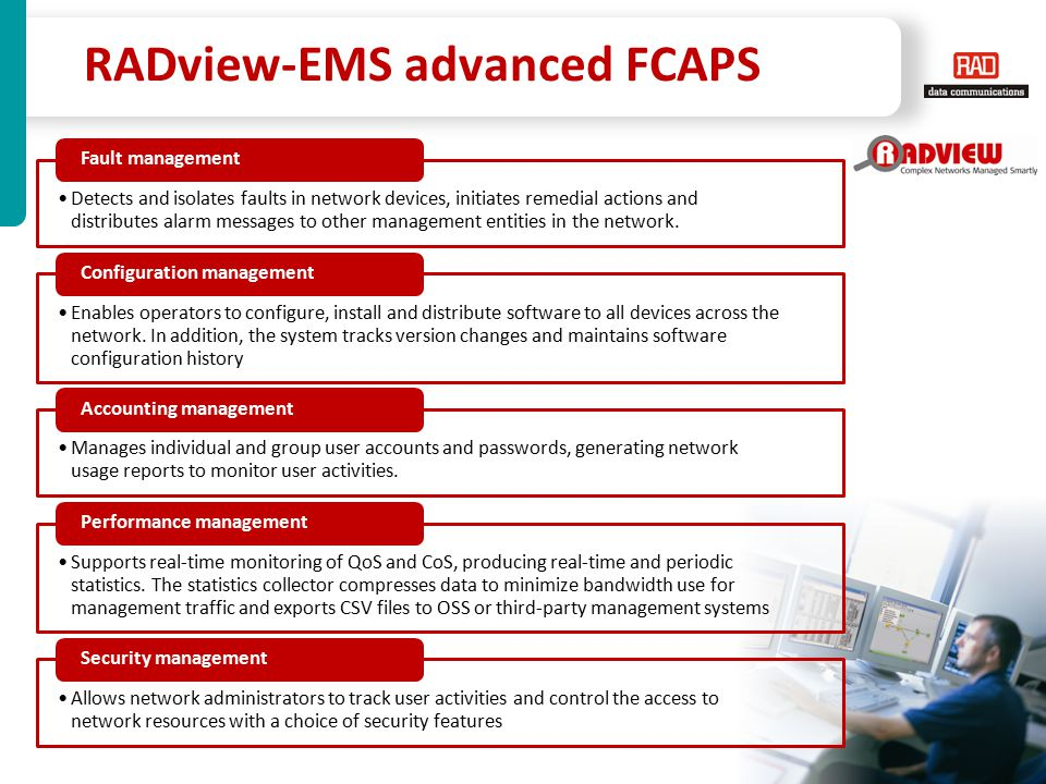 RADview-EMS advanced FCAPS