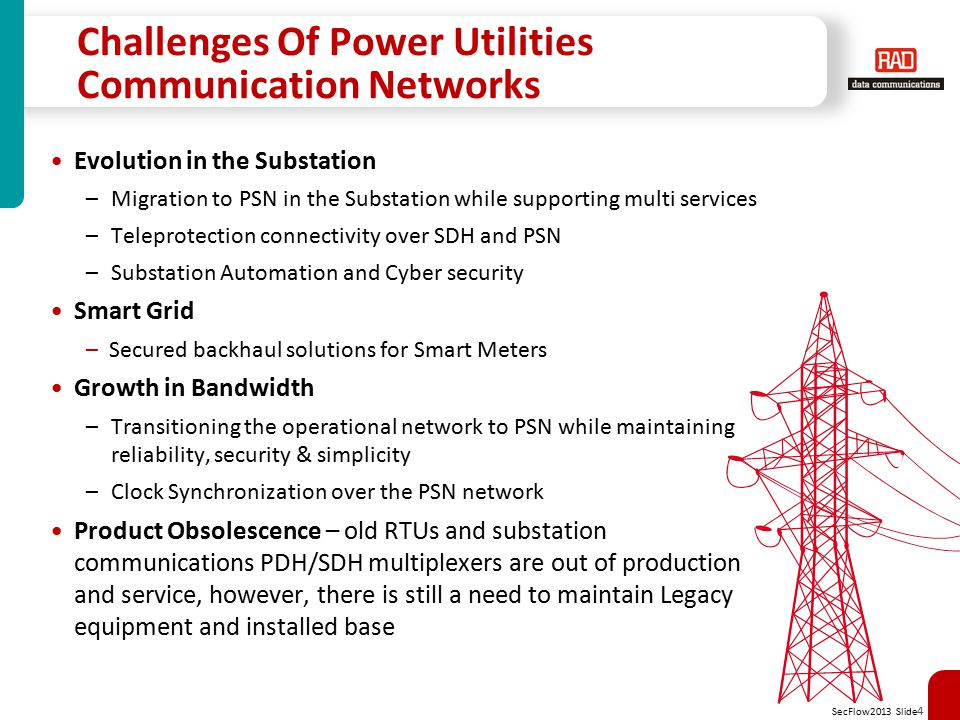 Challenges Of Power Utilities Communication Networks