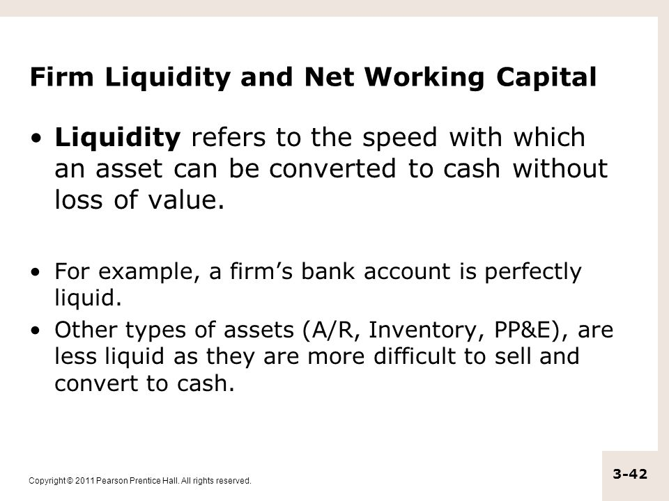 Firm Liquidity and Net Working Capital