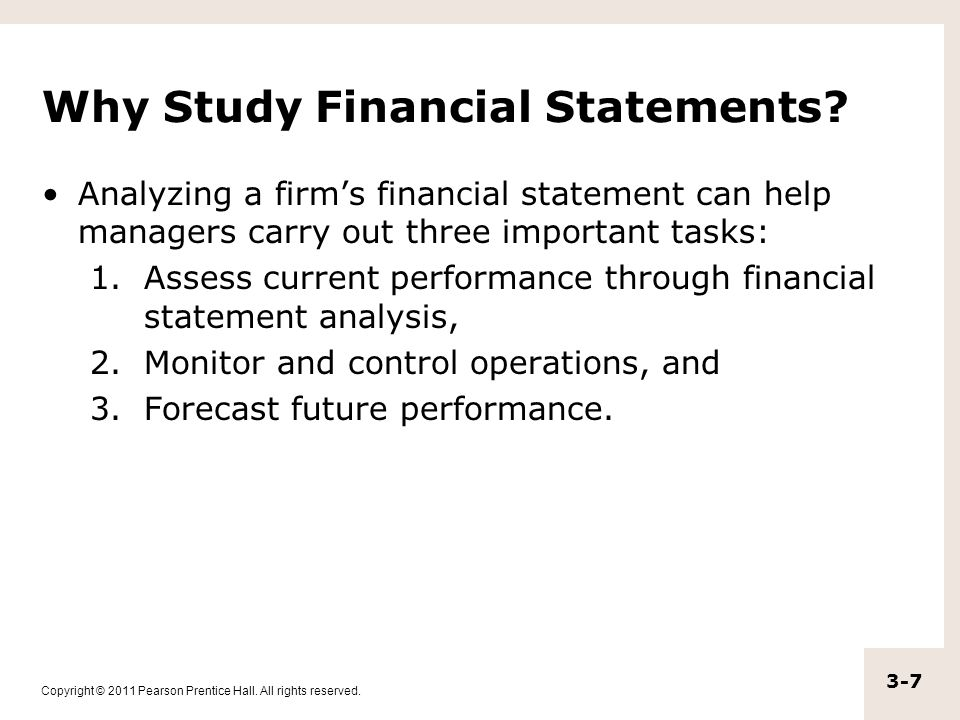 Why Study Financial Statements