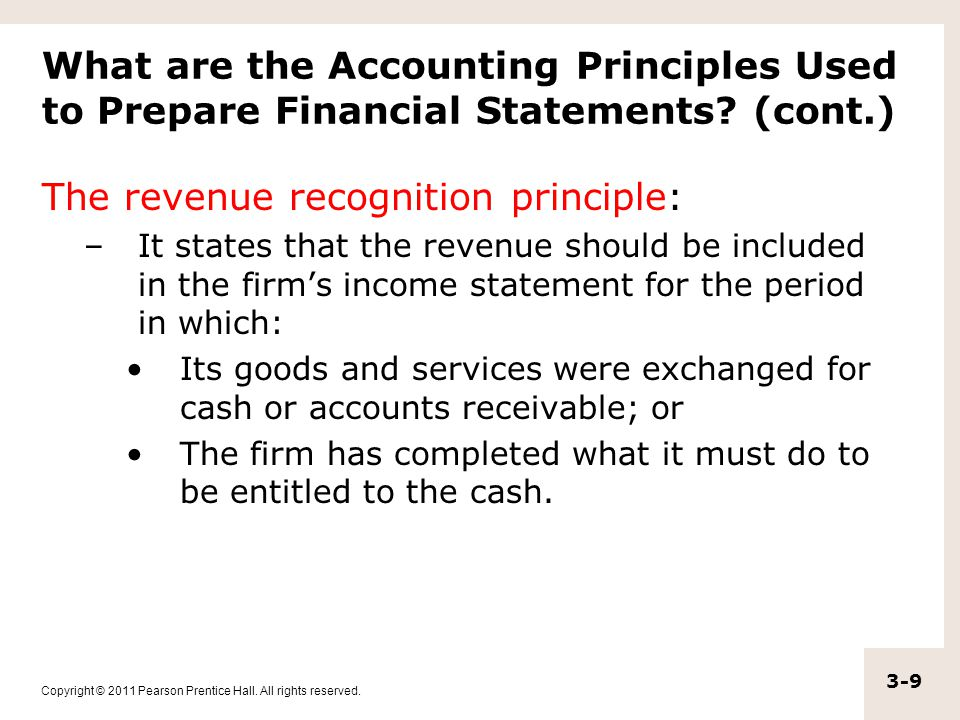 The revenue recognition principle: