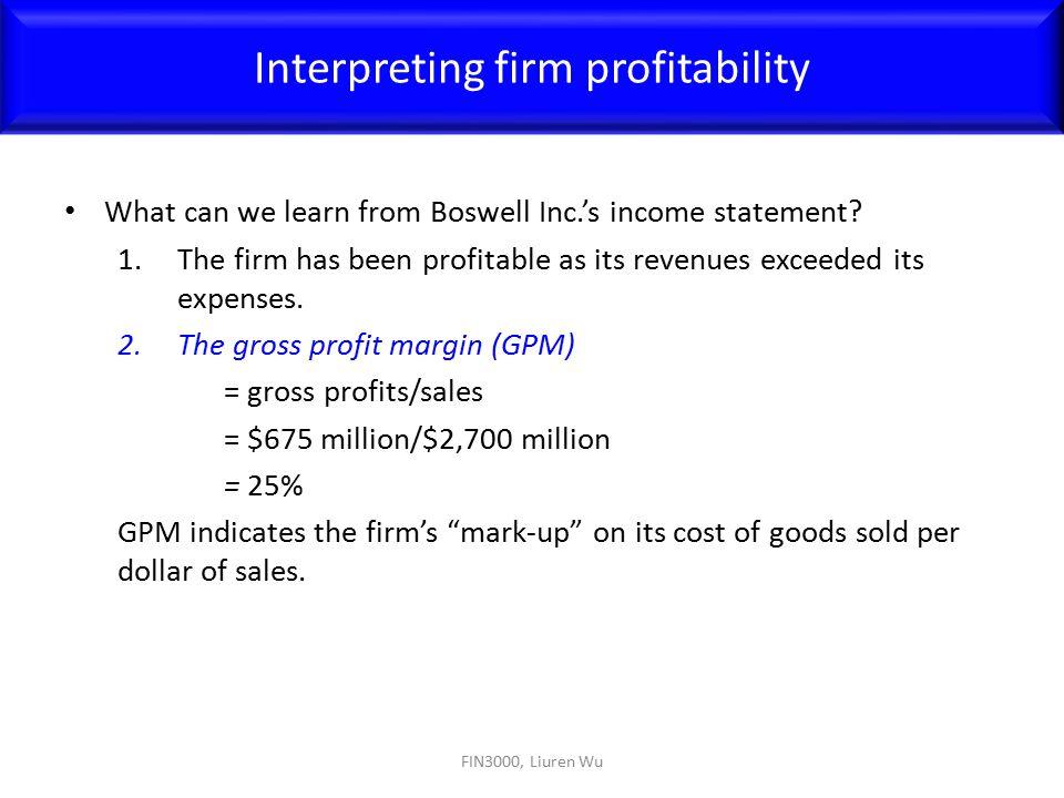 Interpreting firm profitability