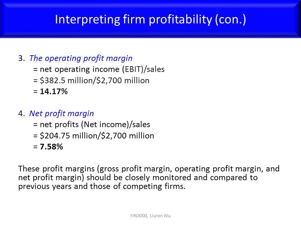 Interpreting firm profitability (con.)