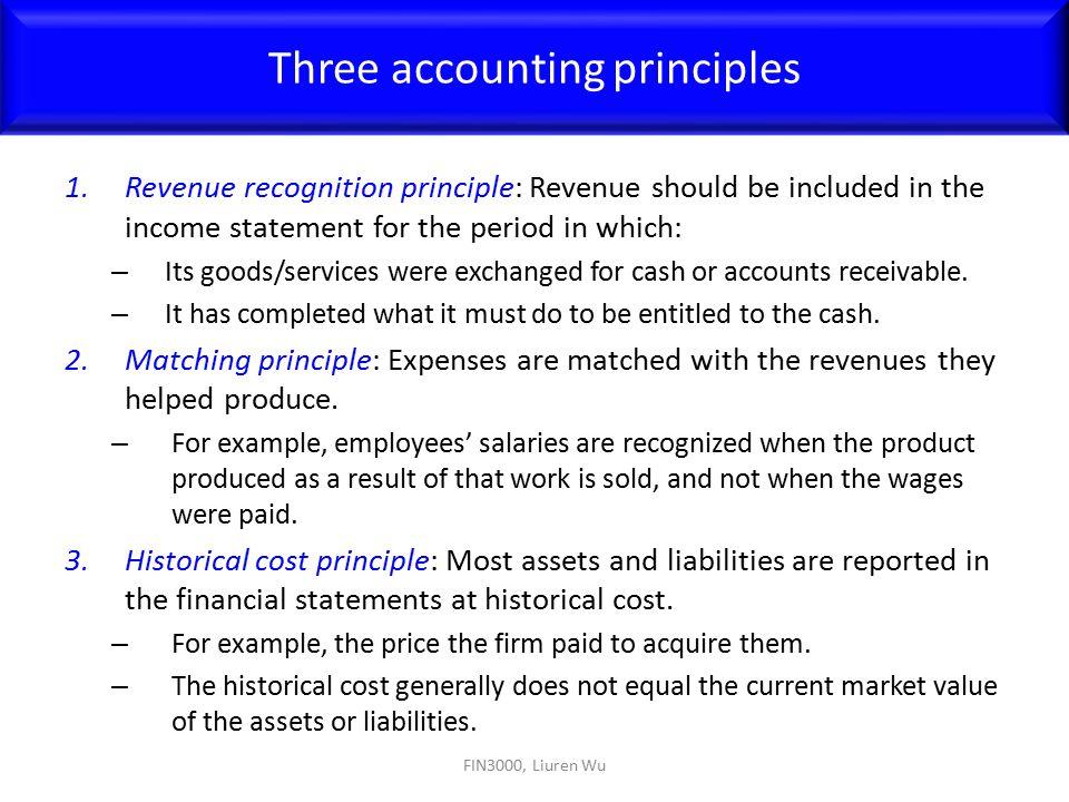 Three accounting principles