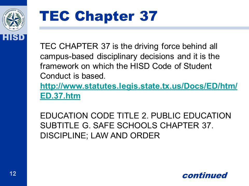 TEC Chapter 37