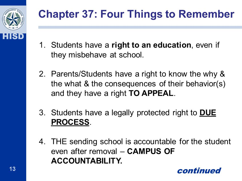 Chapter 37: Four Things to Remember