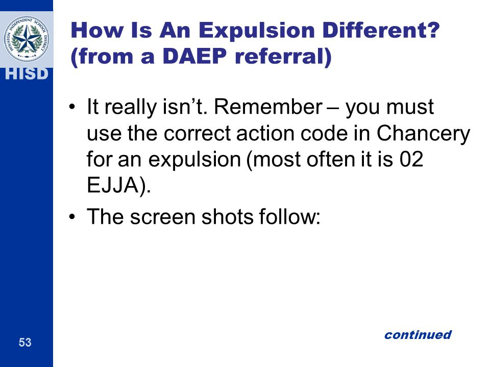 How Is An Expulsion Different (from a DAEP referral)