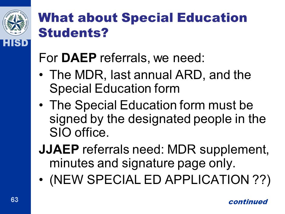 What about Special Education Students