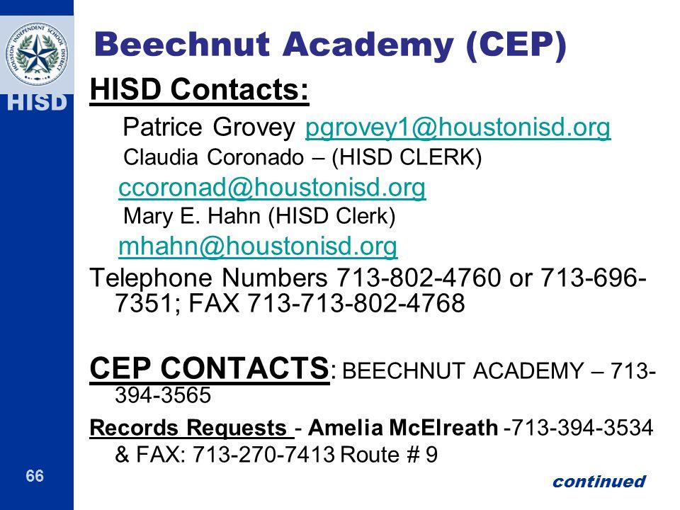 Beechnut Academy (CEP)
